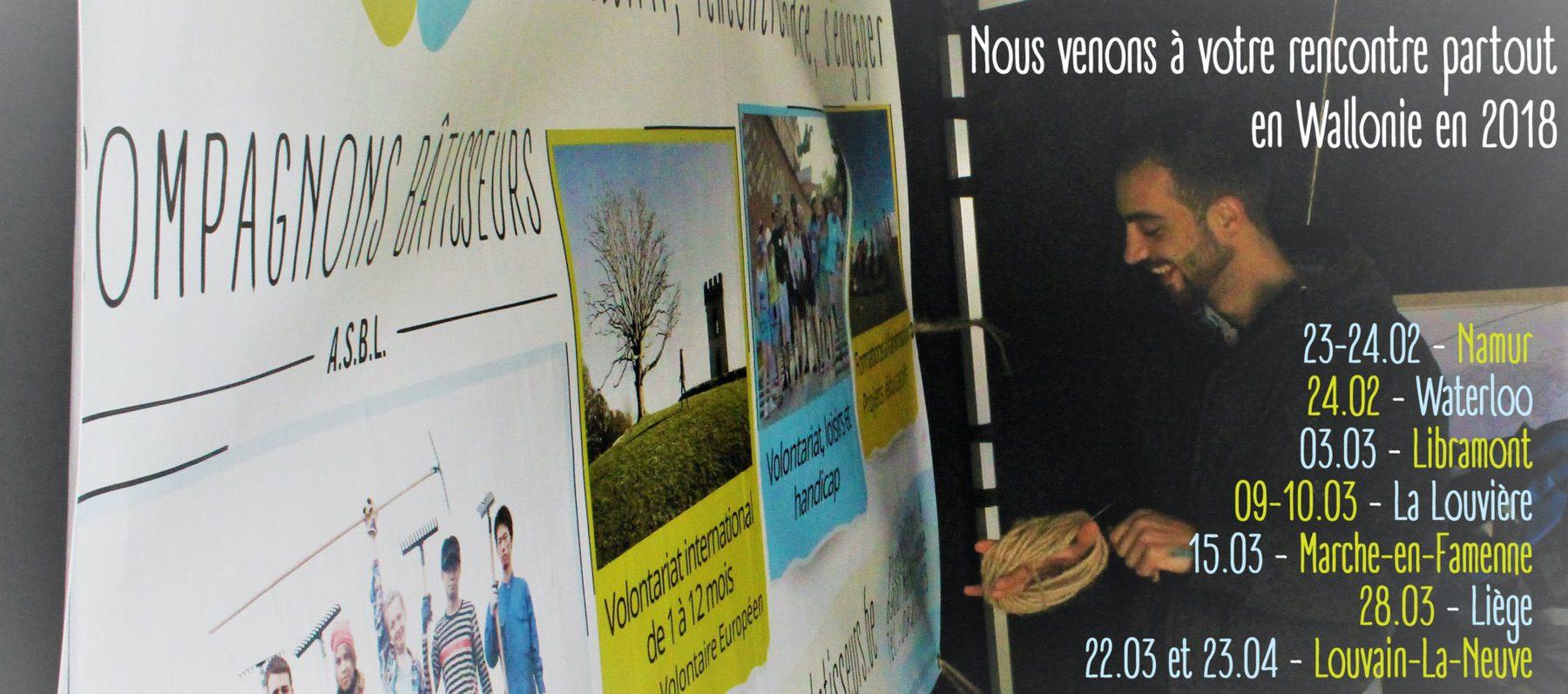 Compagnons Bâtisseurs en tournée: Wallonie 2018