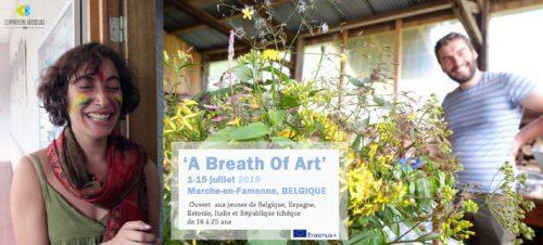 1.»Breath of Art» – 01-15 juillet – Échange de Jeunes BELGIQUE