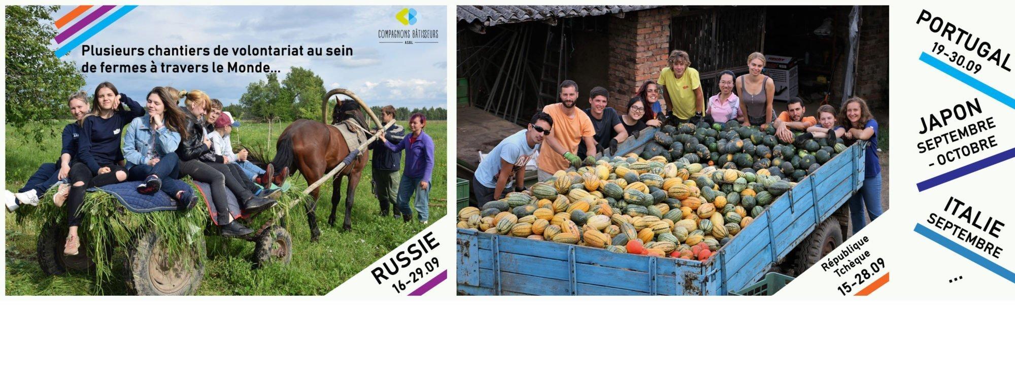Agriculture à travers le Monde – Volontariat